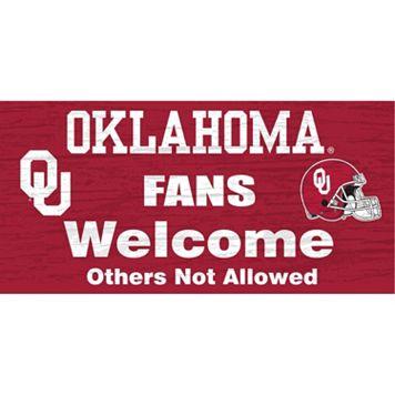 Oklahoma Sooners Welcome Sign Wall Art
