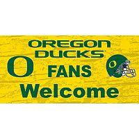 Oregon Ducks Welcome Sign Wall Art