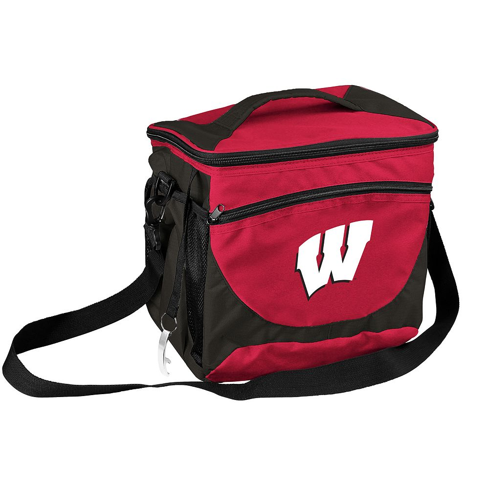 Logo Brand Wisconsin Badgers 24-Can Cooler