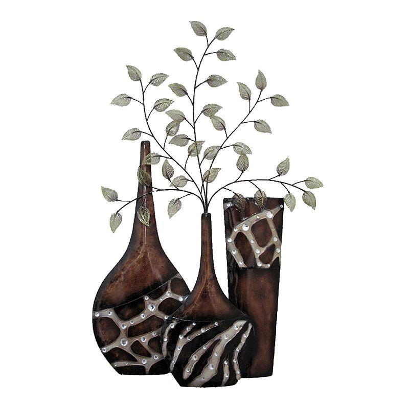 Kohls Metal Wall Decor : Exotic vase metal wall decor