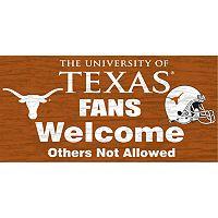 Texas Longhorns Welcome Sign Wall Art