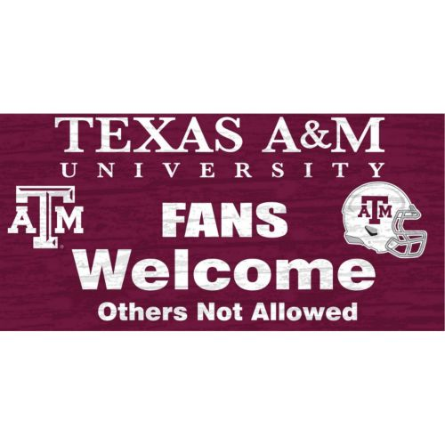 Texas A&M Aggies Welcome Sign Wall Art