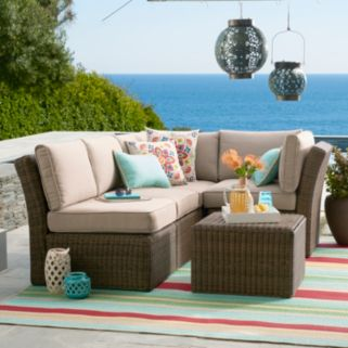 SONOMA Goods for Life™ Brampton Armless Wicker Patio Chair