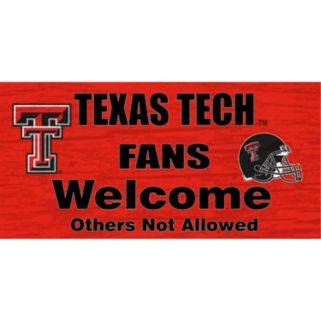 Texas Tech Red Raiders Welcome Sign Wall Art
