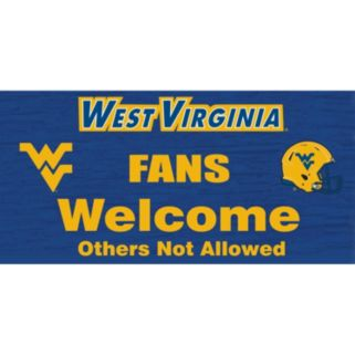West Virginia Mountaineers Welcome Sign Wall Art