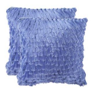 Cali Shag 2-piece 18'' x 18'' Throw Pillow Set