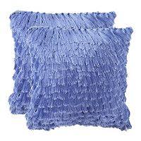 Cali Shag 2 pc 22'' x 22'' Throw Pillow Set