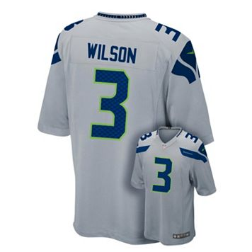 Boys 8-20 Nike Seattle Seahawks Russell Wilson Game NFL Replica Jersey