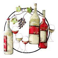 Merlot Wine Metal Wall Decor