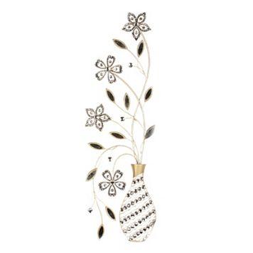 Floral Vase Metal Wall Decor