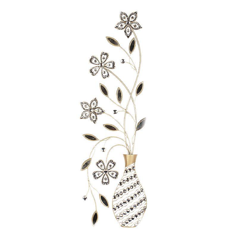 Metal Flower Wall Decor Kohls : Floral vase metal wall decor