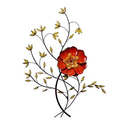 Floral Bloom Metal Wall Decor