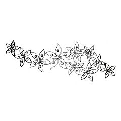 Floral Horizontal Metal Wall Decor
