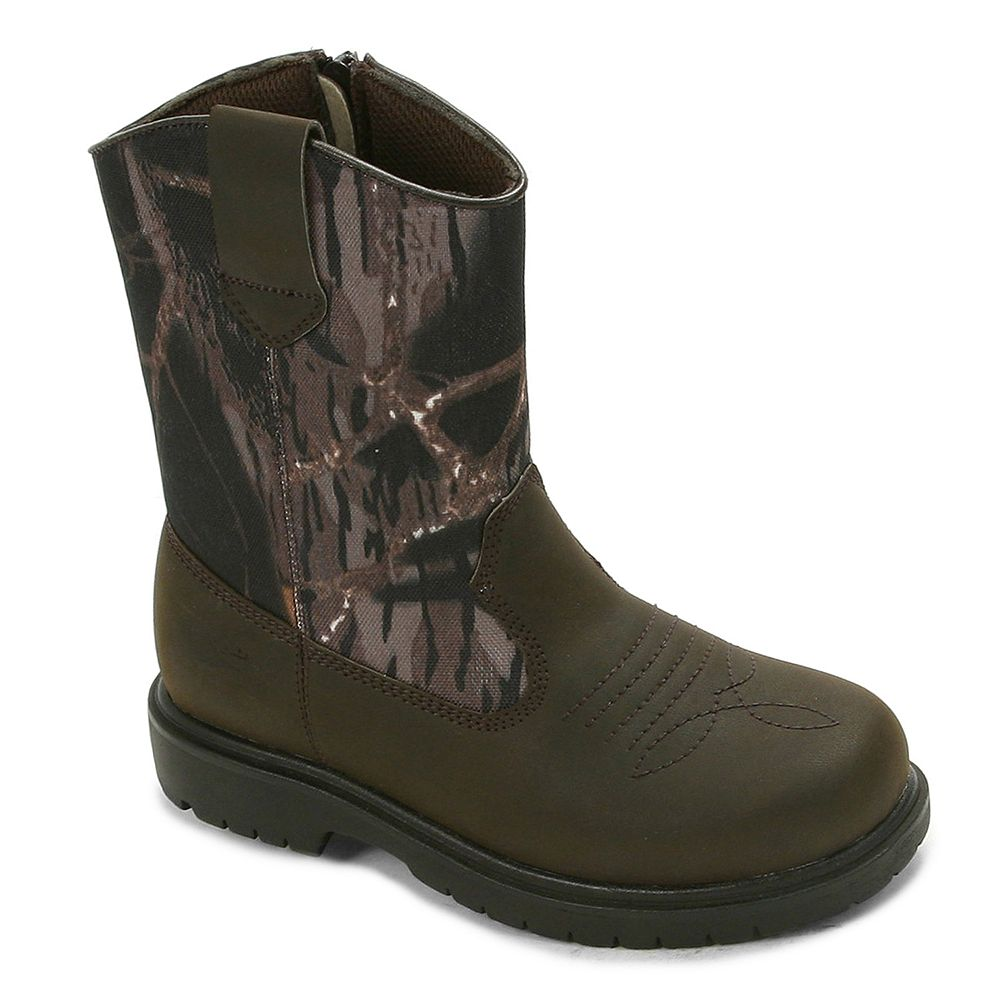 4d20c113f798f Deer Stags Tour Boys Camouflage Waterproof Boots