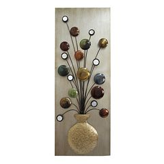 Metallic Vase Metal Wall Decor