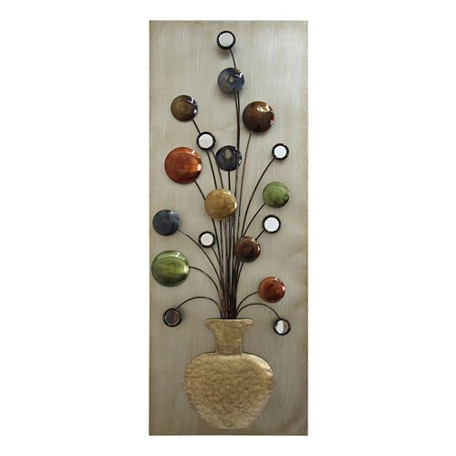 Kohls Home Decor Wall Art ~ Metallic vase metal wall decor