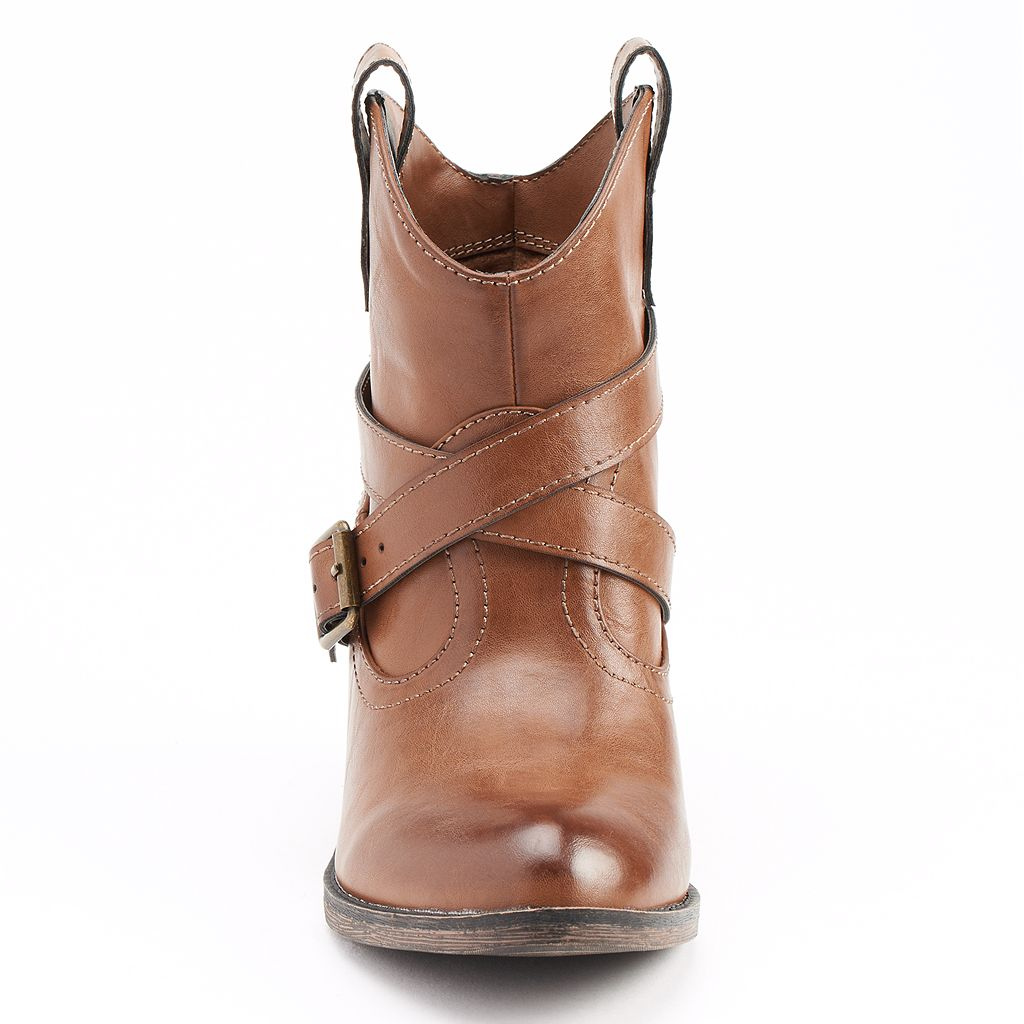 Unleashed by Rocket Dog Women's Western Ankle Boots
