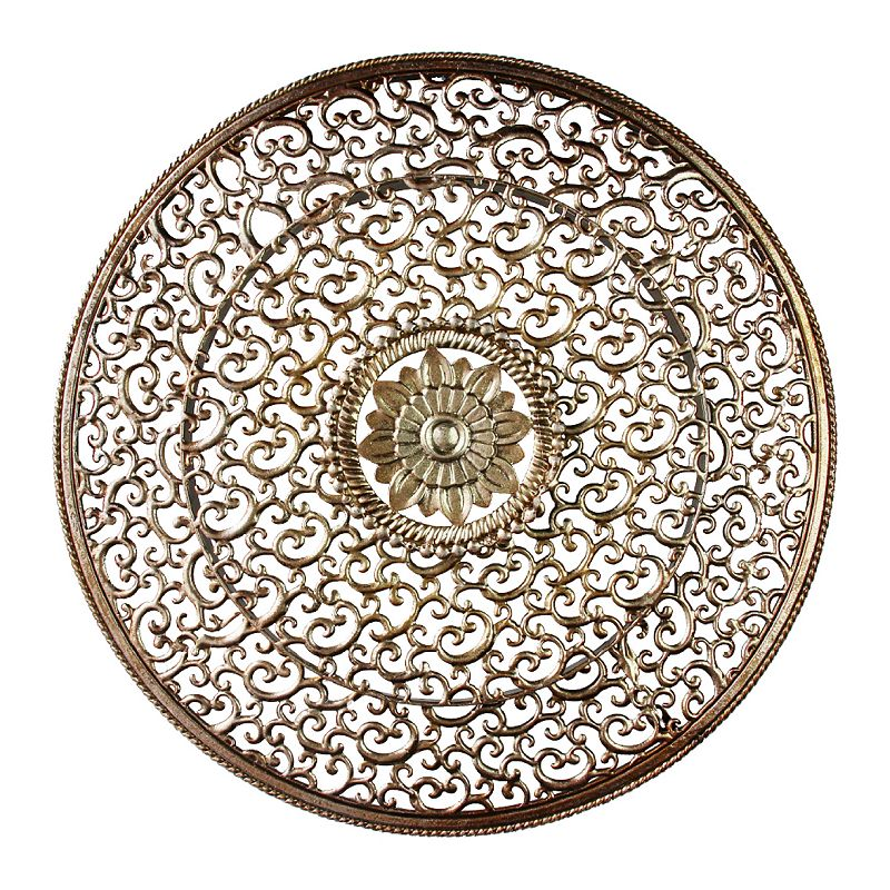Floral metal wall decor kohl 39 s for Circle wall art