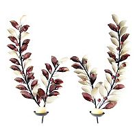 2-piece Branch Metal Candle Wall Sconce Set