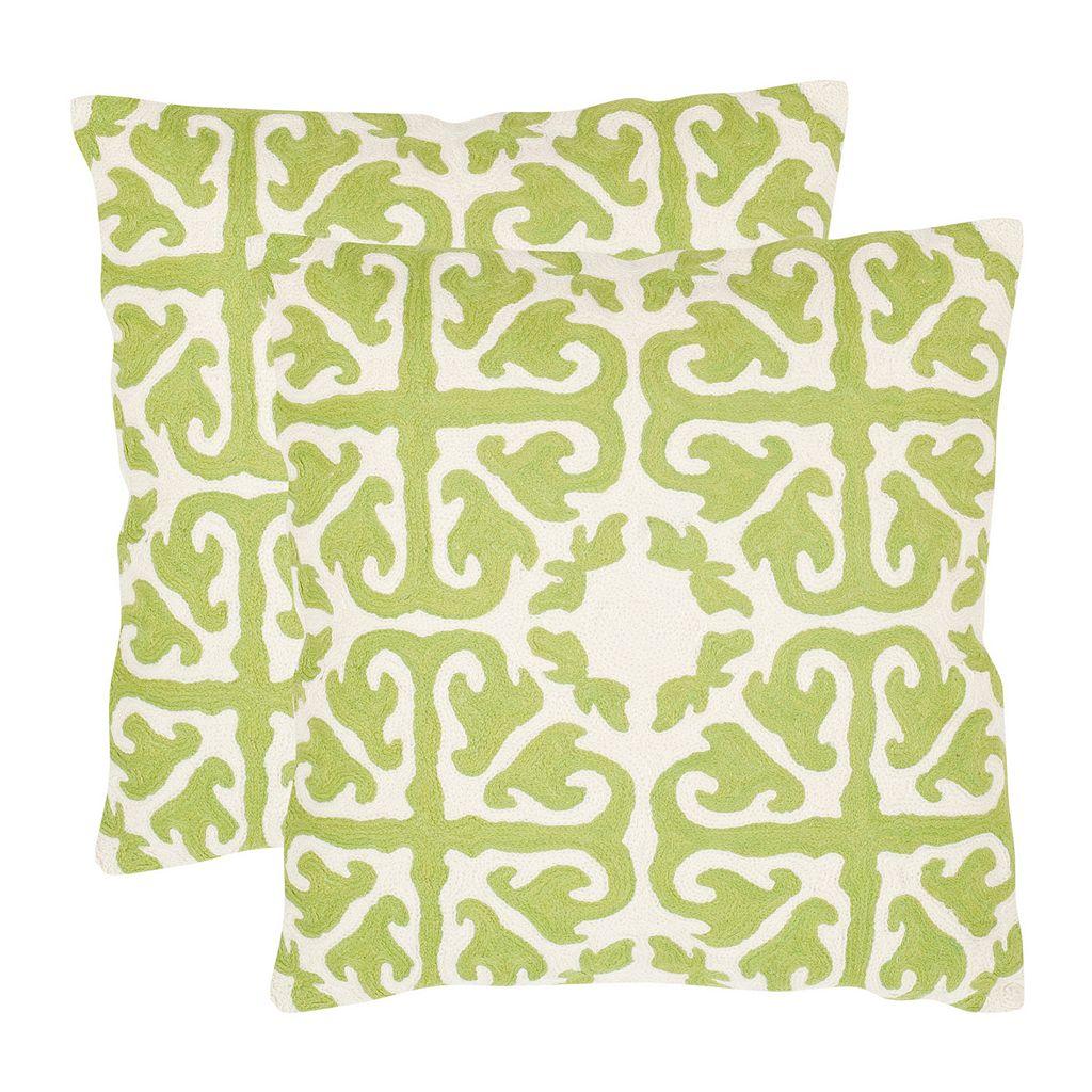 Moroccan 2-piece 22'' x 22'' Throw Pillow Set