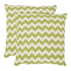 Chevron Tealea 2 pc 18'' x 18'' Throw Pillow Set