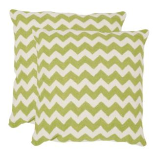 Chevron Tealea 2-piece 18'' x 18'' Throw Pillow Set