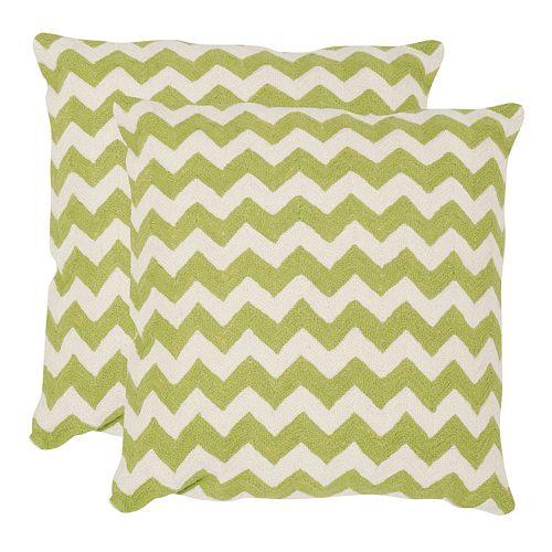 Chevron Tealea 2-piece 18'' x 18'' Throw Pillow Set