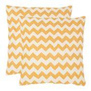 Chevron Tealea 2 pc 18'' x 18'' Throw Pillow Set