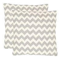 Chevron Tealea 2 pc 22'' x 22'' Throw Pillow Set