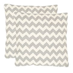 Chevron Tealea 2 pc 22'' x 22'' Throw Pillow Set
