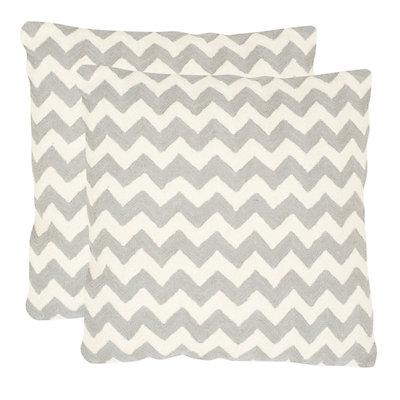 Chevron Tealea 2-piece 22'' x 22'' Throw Pillow Set