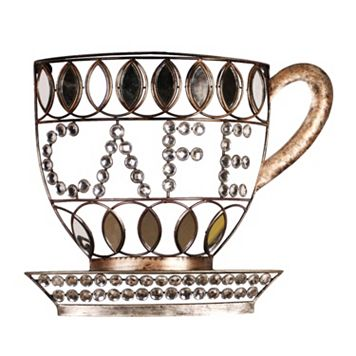 ''Cafe'' Cup Metal Wall Decor