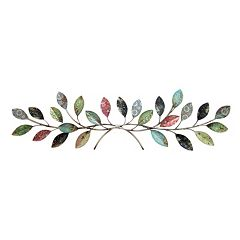 Patterned Leaves Metal Wall Decor