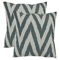 Chevron 2-piece 18'' x 18'' Throw Pillow Set