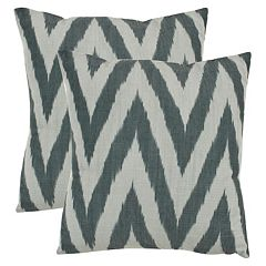 Chevron 2-piece 18'' x 18'' Throw Pillow Set