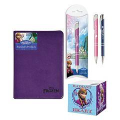 Disney Frozen 4 pc Journal, Pencil, Pen & Sticky Note Cube Set