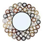Metal Circles Wall Mirror