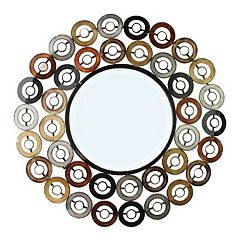 Metal Circles Wall Mirror