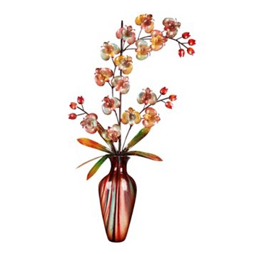 Iridescent Orchid Metal Wall Decor