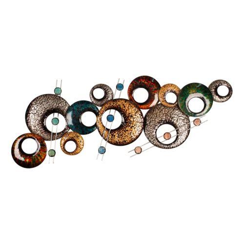 Abstract Circles Metal Wall Decor