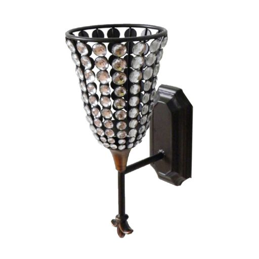 Jeweled Candle Wall Sconce