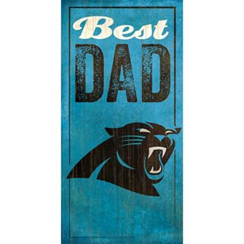 Carolina Panthers Best Dad Sign