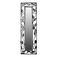 Framed Leaves Metal Wall Mirror