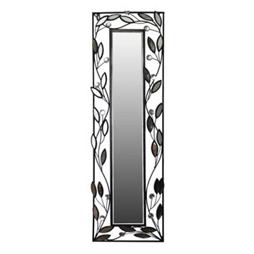 Framed Leaves Metal Wall Mirror