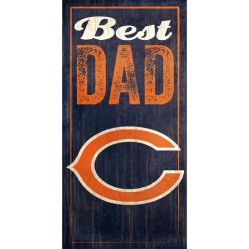 Chicago Bears Best Dad Sign