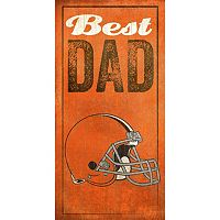 Cleveland Browns Best Dad Sign