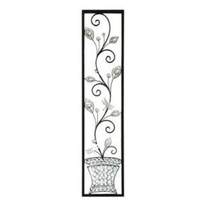 Jeweled Dragonfly Panel Metal Wall Decor