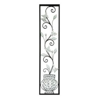 Jeweled Butterfly Panel Metal Wall Decor