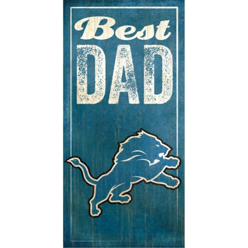 Detroit Lions Best Dad Sign