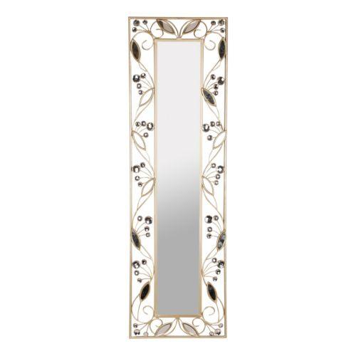 Leaf Border Metal Wall Mirror